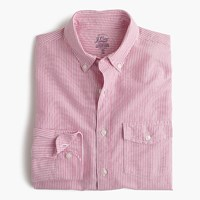 J.Crew Slim Lightweight Oxford Shirt In Fuchsia Stripe Vibrant Fuchsia