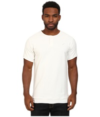 Publish Owen Reverse French Terry Short Sleeve Henley White Men's Short Sleeve Pullover