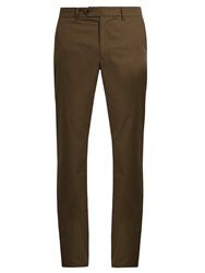 Adam By Adam Lippes Straight Leg Chino Trousers Dark Green
