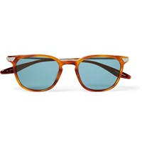 Barton Perreira Dean Square Frame Acetate And Metal Sunglasses Brown