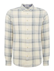 Wrangler Men's Long Sleeve Checked Shirt Ecru