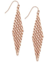 Inc International Concepts Mesh Drop Earrings Only At Macy's Rose Gold