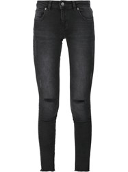 Anine Bing Ripped Jeans Grey