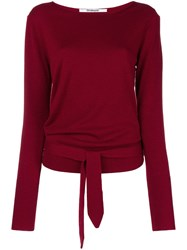 Chalayan Back Tie Jumper Red