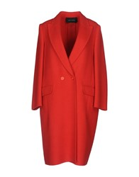 Cedric Charlier Coats Red
