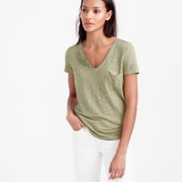J.Crew Linen Cool Dye Pocket T Shirt