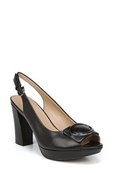 Naturalizer Abby Platform Sandal Black Leather