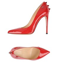 Philipp Plein Footwear Courts Women Red