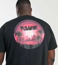 Friend Or Faux Plus Mellow Back Print T Shirt Black