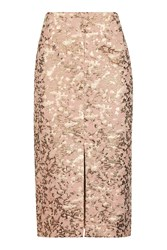Topshop Camouflage Jacquard Pencil Skirt Multi