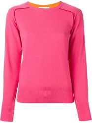 Sacai Luck Two Tone Sweater Pink And Purple