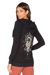Spiritual Gangster Mystical Moon Zip Hoodie Black