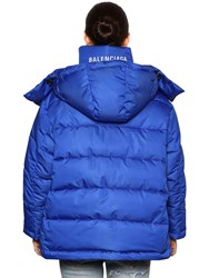 Balenciaga Back Logo Nylon Puffer Royal Blue