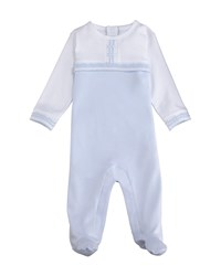 Kissy Kissy Homecoming Two Tone Footie Playsuit Size Newborn 9M Blue