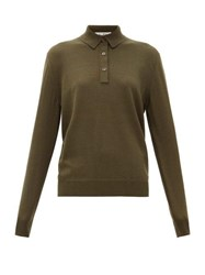 Giuliva Heritage Collection The Cassiope Cashmere Blend Polo Shirt Dark Green