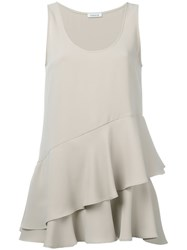 P.A.R.O.S.H. Layered Ruffled Tank Nude Neutrals
