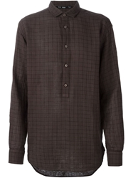 Blk Dnm Check Print Shirt