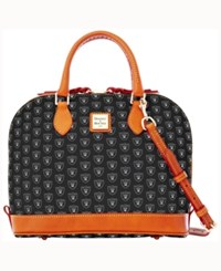 Dooney And Bourke Oakland Raiders Zip Zip Satchel Black
