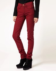 Monkee Genes Dogtooth Skinny Jean Red