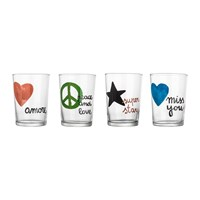 Bitossi Home Sms Assorted Beer Glasses Set Of 4