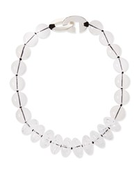 Patricia Von Musulin Clear Rock Crystal Bead Necklace Silver