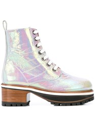 Sies Marjan Holographic Ankle Boots White