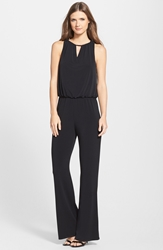 Laundry By Shelli Segal Lace Cowl Back Blouson Jumpsuit Black