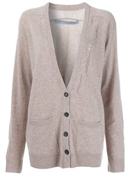 Raquel Allegra Oversized Cardigan Nude And Neutrals