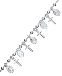 Giani Bernini Sterling Silver Bracelet Cross Charm Bracelet