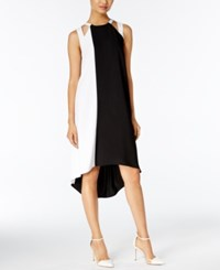 Alfani High Low Shift Dress Only At Macy's Black White