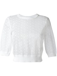 Red Valentino Embroidered Blouse White
