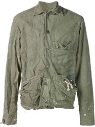 Greg Lauren One Of A Kind Jacket Green
