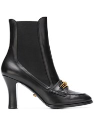 Versace Icon Loafer Boots Black