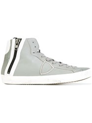 Philippe Model Side Zip High Top Sneakers Grey