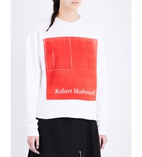 Enfants Riches Deprimes Robert Motherwell Cotton Jersey Sweatshirt White
