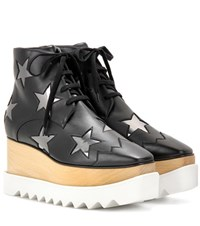 Stella Mccartney Elyse Platform High Top Derby Shoes Black