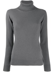 Fabiana Filippi Glitter Turtleneck Jumper Grey