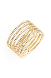 Women's Bony Levy Diamond Stack Ring Yellow Gold Nordstrom Exclusive