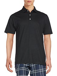 Dunning Golf Heathered Polo Shirt Black