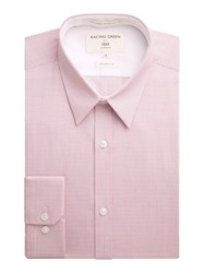 Racing Green Nelson Micro Check Formal Shirt Pink