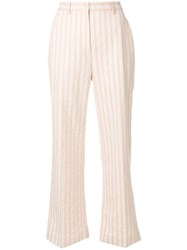Aspesi Striped Trousers Nude And Neutrals