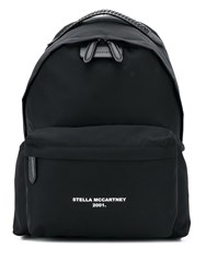 Stella Mccartney Logo Go Backpack Black