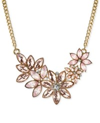 2028 Gold Crystal Floral Collar Necklace