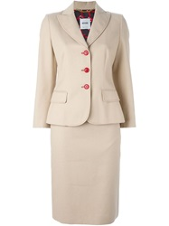 Moschino Vintage Two Piece Suit Nude And Neutrals