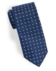 Brooks Brothers Dotted Silk Tie Navy