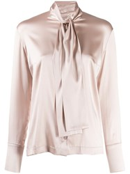 D.Exterior Pussy Bow Blouse Pink