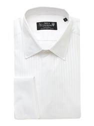 New And Lingwood Dinner Shirt With Standard Collar And Marcella Bib White