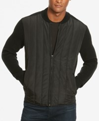 Kenneth Cole New York Men's Multi Textured Quilted Jacket Black