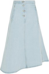 Acne Studios Kady Asymmetric Denim Midi Skirt Light Denim