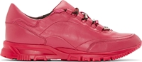 Lanvin Fuchsia Leather Runner Sneakers